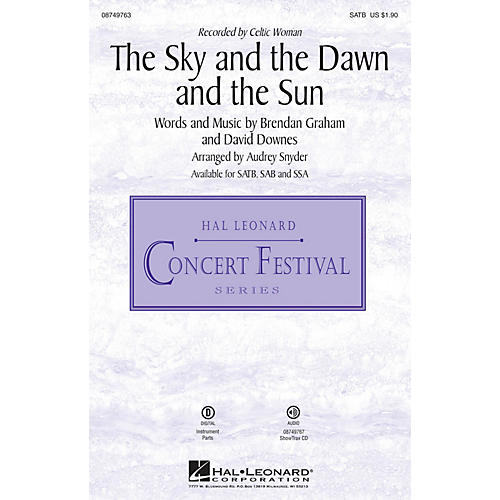 Hal Leonard The Sky and the Dawn and the Sun SATB by Celtic Woman arranged by Audrey Snyder