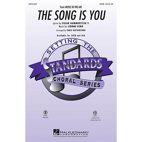 Hal Leonard The Song Is You ShowTrax CD Arranged by Paris Rutherford-thumbnail