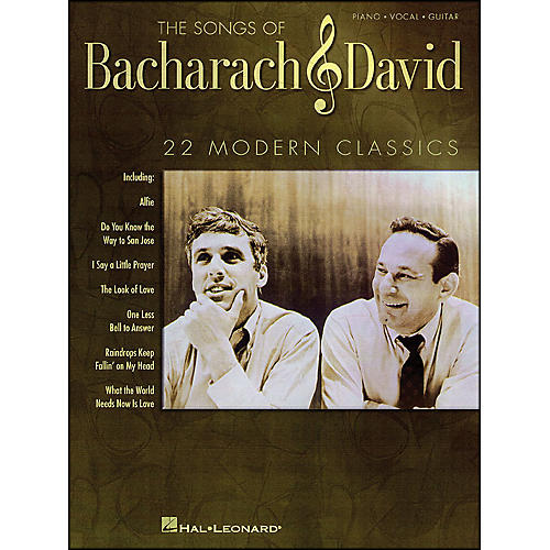 Hal Leonard The Songs Of Bacharach And David arranged for piano, vocal, and guitar (P/V/G)-thumbnail