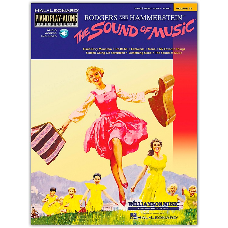 Hal Leonard The Sound Of Music Book/CD Piano Play-Along Volume 25 arranged for piano, vocal, and guitar (P/V/G)