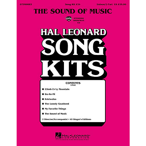 Hal Leonard The Sound of Music (Song Kit #24) ShowTrax CD Arranged by Dick Averre-thumbnail