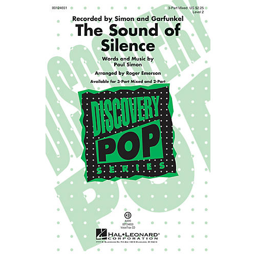 Hal Leonard The Sound of Silence (Discovery Level 2) 3-Part Mixed by Paul Simon arranged by Roger Emerson-thumbnail