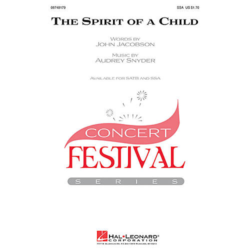 Hal Leonard The Spirit of a Child SSA composed by Audrey Snyder-thumbnail