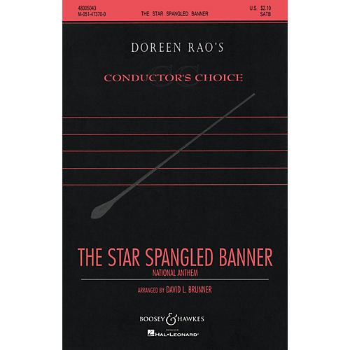 Boosey and Hawkes The Star Spangled Banner (CME Conductor's Choice) SATB a cappella arranged by David Brunner-thumbnail