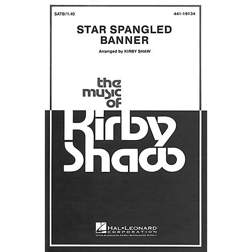 Hal Leonard The Star Spangled Banner SATB a cappella arranged by Kirby Shaw