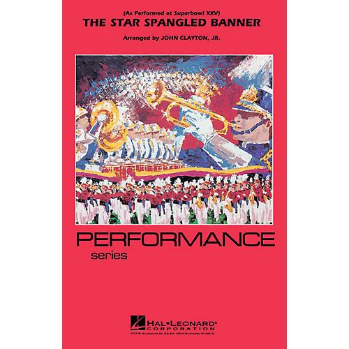 Hal Leonard The Star Spangled Banner (Whitney Houston version) Marching Band Level 3 Arranged by John Clayton-thumbnail