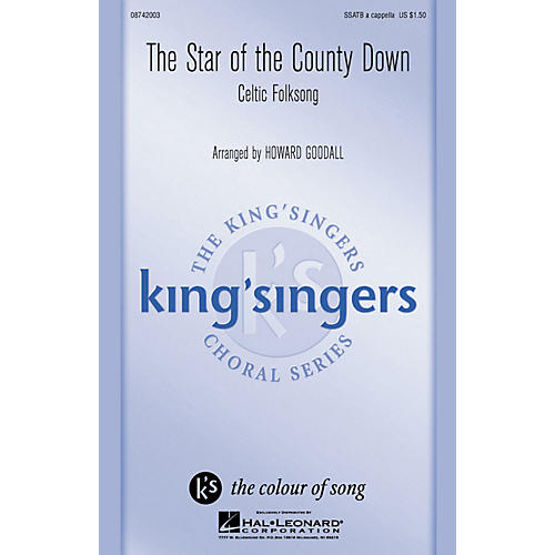 Hal Leonard The Star of the County Down SATB a cappella by The King's Singers arranged by Howard Goodall-thumbnail