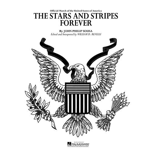 Hal Leonard The Stars and Stripes Forever Concert Band Level 4 Arranged by Dr. William D. Revelli-thumbnail