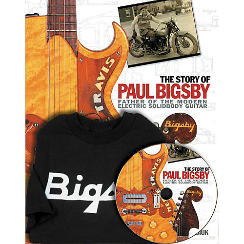 Hal Leonard The Story Of Paul Bigsby Book/CD And T-Shirt Package