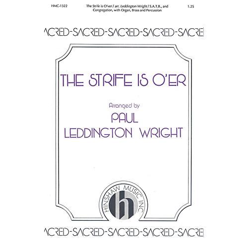 Hinshaw Music The Strife Is O'er SATB arranged by Paul Leddington Wright-thumbnail