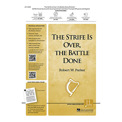 Jubal House Publications The Strife Is Over, the Battle Done SATB composed by Robert W. Parker-thumbnail