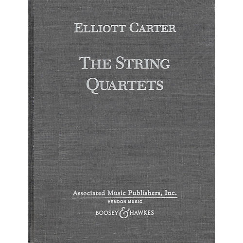 Boosey and Hawkes The String Quartets (Complete in Hardbound) Boosey & Hawkes Scores/Books Series by Elliott Carter-thumbnail