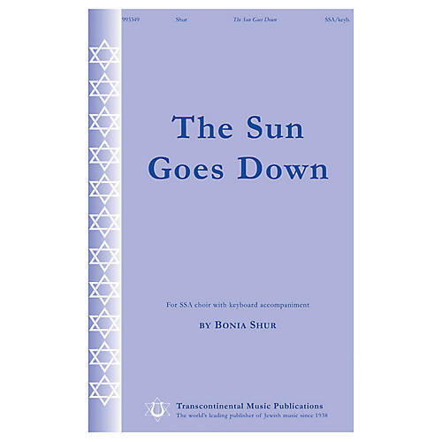 Transcontinental Music The Sun Goes Down SSA composed by Bonia Shur-thumbnail
