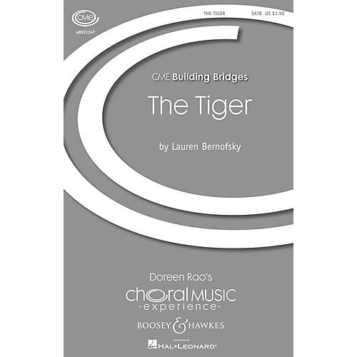 Boosey and Hawkes The Tiger (CME Building Bridges) SATB composed by Lauren Bernofsky-thumbnail