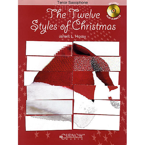 Curnow Music The Twelve Styles of Christmas (Bb Tenor Saxophone - Grade 2-3 - Book/CD Pack) Concert Band Level 2-3-thumbnail