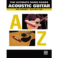 Alfred The Ultimate Song Pages Acoustic Guitar A to Z