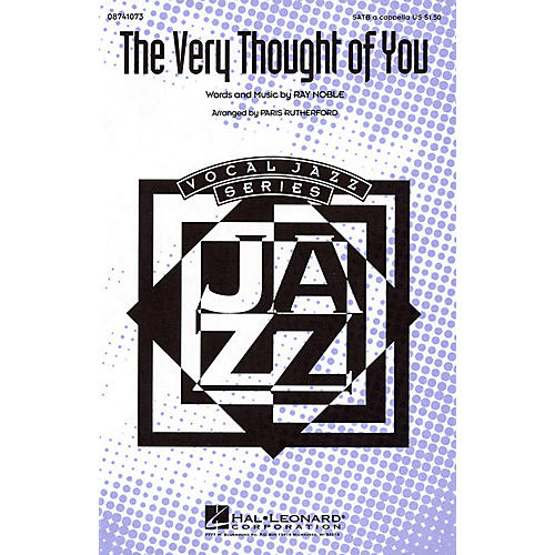 Hal Leonard The Very Thought of You SATB a cappella arranged by Paris Rutherford-thumbnail