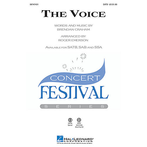 Hal Leonard The Voice SAB Arranged by Roger Emerson
