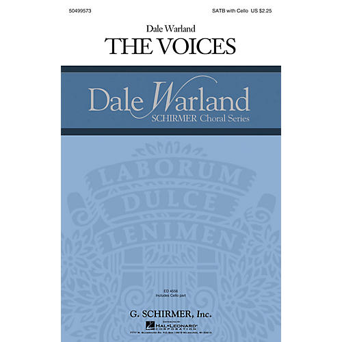 G. Schirmer The Voices (Dale Warland Choral Series) SATB with Cello composed by Dale Warland-thumbnail