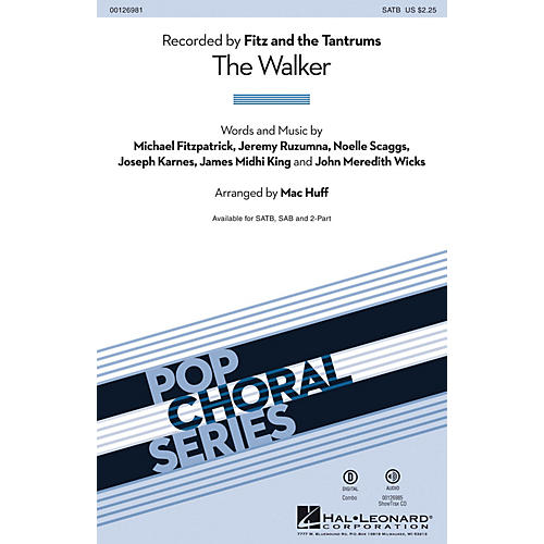 Hal Leonard The Walker SAB by Fitz and the Tantrums Arranged by Mac Huff