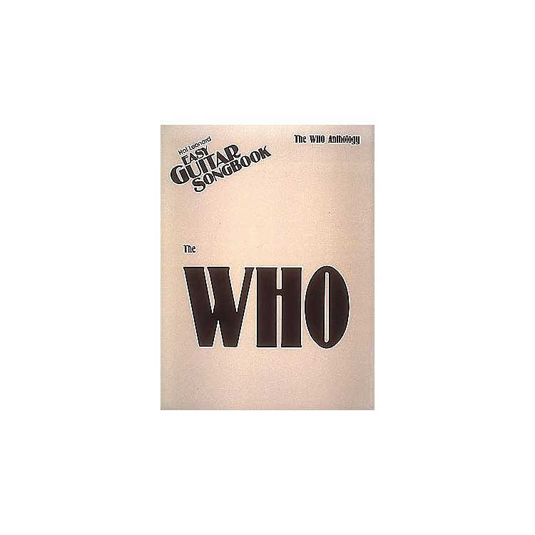 Hal Leonard The Who Anthology Easy Guitar Tab Book
