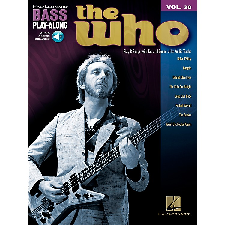Hal Leonard The Who Bass Play-Along Volume 28 BK/CD
