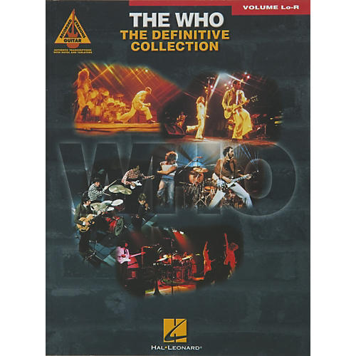 Hal Leonard The Who Definitive Collection Volume Lo - R Book