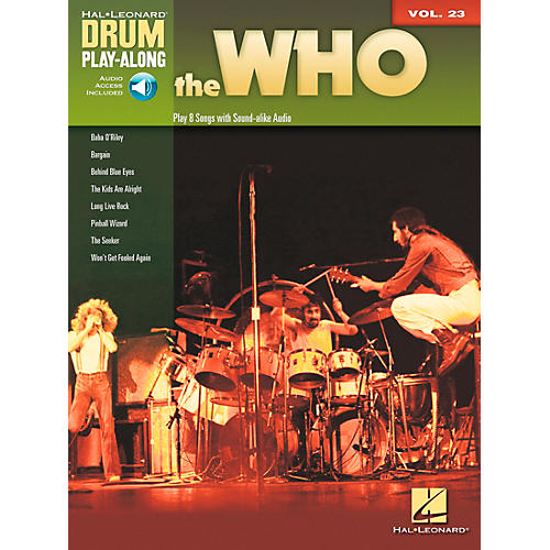 Hal Leonard The Who Drum Play-Along Volume 23 Book/CD