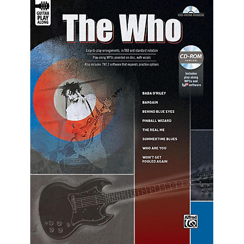 Alfred The Who Guitar Play-Along Guitar TAB Book & CD-ROM Songbook-thumbnail