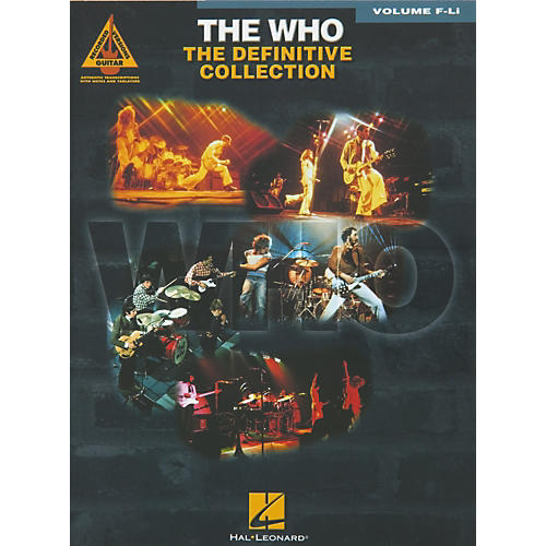Hal Leonard The Who The Definitive Collection F - Li Book