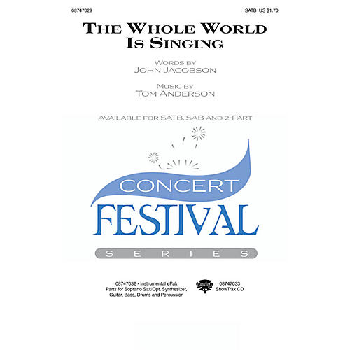 Hal Leonard The Whole World Is Singing 2-Part Composed by John Jacobson
