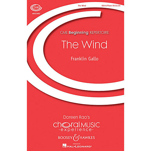 Boosey and Hawkes The Wind (CME Beginning) SSA composed by Franklin Gallo