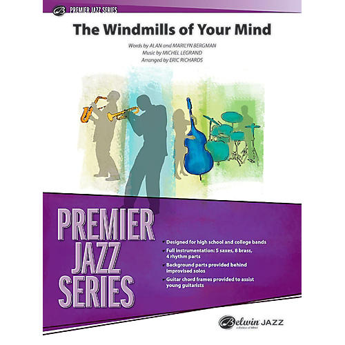 BELWIN The Windmills of Your Mind Jazz Ensemble Grade 5 (Advanced / Difficult)