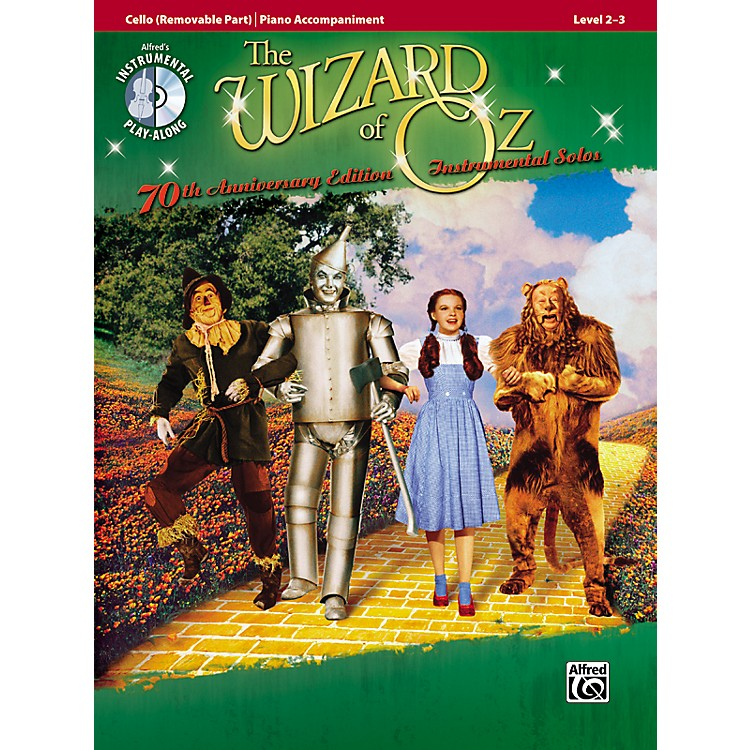 Alfred The Wizard of Oz 70th Anniversary Edition Instrumental Solos: Cello (Songbook/CD)