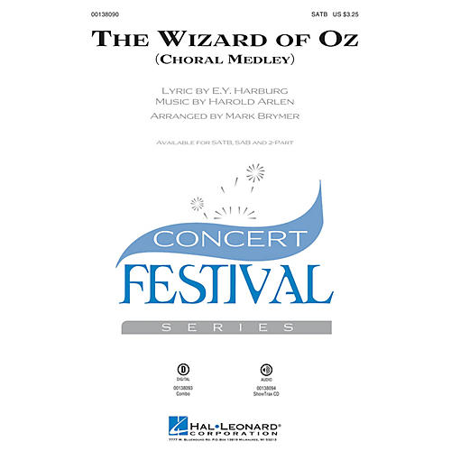 Hal Leonard The Wizard of Oz (Choral Medley) ShowTrax CD Arranged by Mark Brymer