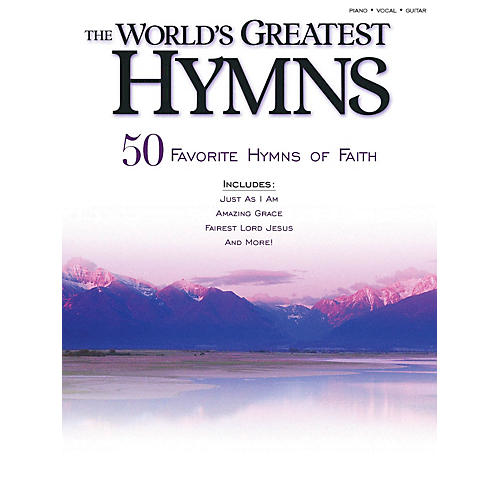Shawnee Press The World's Greatest Hymns (50 Favorite Hymns of Faith) Shawnee Press Series Softcover-thumbnail