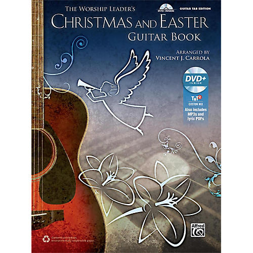 Alfred The Worship Leader's Christmas and Easter Guitar TAB (Book/MP3 CD)-thumbnail
