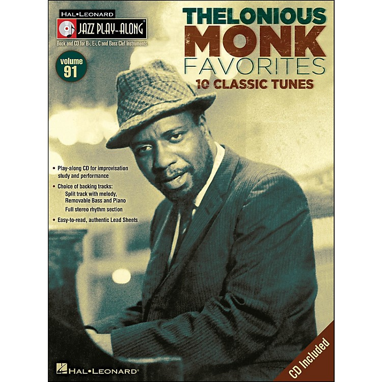 Hal LeonardThelonious Monk Favorites - Jazz Play-Along Volume 91 CD/Pkg
