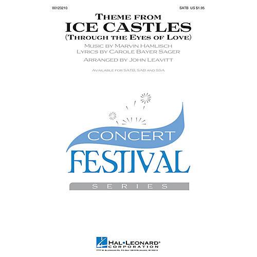 Hal Leonard Theme from Ice Castles (Through the Eyes of Love) SATB by Melissa Manchester arranged by John Leavitt-thumbnail
