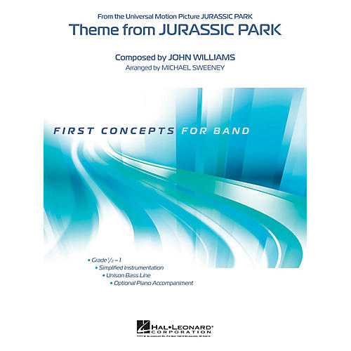 Hal Leonard Theme from Jurassic Park Concert Band Level 0.5 Arranged by Michael Sweeney-thumbnail