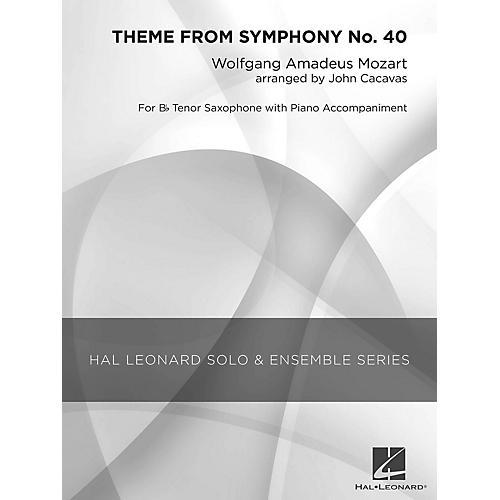 Hal Leonard Theme from Symphony No. 40 (Grade 3 Tenor Saxophone Solo) Concert Band Level 3 Arranged by John Cacavas