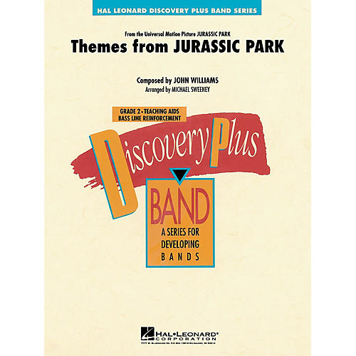 Hal Leonard Themes from Jurassic Park (Medley) - Discovery Plus Concert Band Series Level 2 arranged by Sweeney
