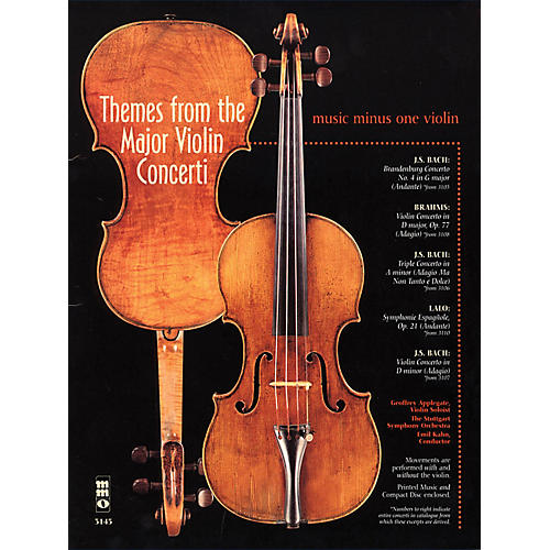 Music Minus One Themes from the Major Violin Concerti Music Minus One Series Softcover with CD Composed by Various-thumbnail