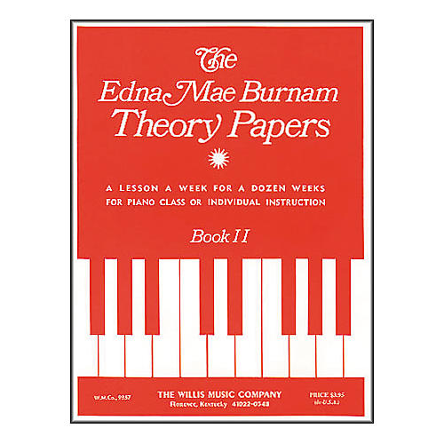 Willis Music Theory Papers Set 2 Mid-Elementary Level