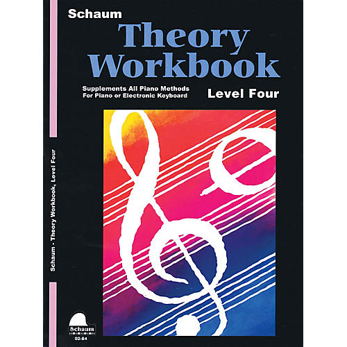 SCHAUM Theory Workbook - Level 4 Educational Piano Book by Wesley Schaum-thumbnail
