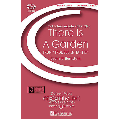 Boosey and Hawkes There Is a Garden (from Trouble in Tahiti) CME Intermediate UNIS composed by Leonard Bernstein-thumbnail
