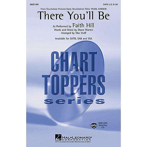 Hal Leonard There You'll Be (from Pearl Harbor) (SATB) SATB by Faith Hill arranged by Mac Huff-thumbnail