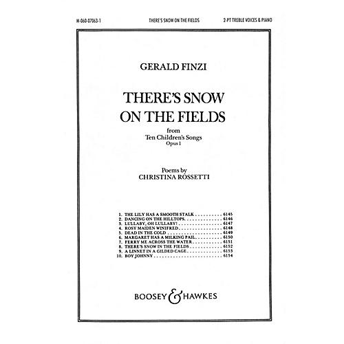 Boosey and Hawkes There's Snow on the Fields (from Ten Children's Songs, Op. 1) SA composed by Gerald Finzi-thumbnail
