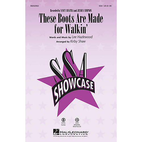 Hal Leonard These Boots Are Made for Walkin' SSA by Nancy Sinatra arranged by Kirby Shaw-thumbnail