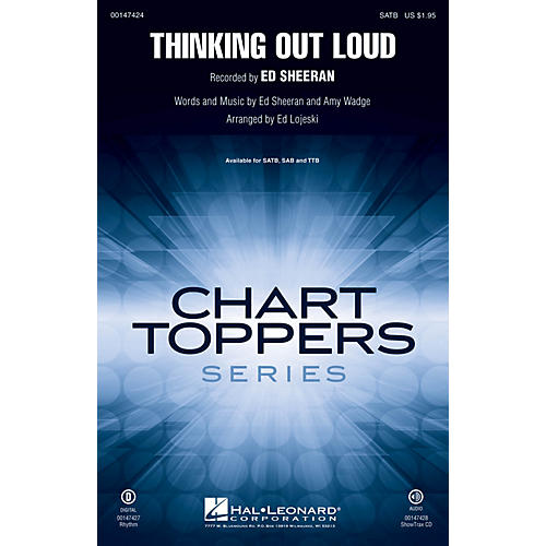 Hal Leonard Thinking Out Loud SATB by Ed Sheeran arranged by Ed Lojeski-thumbnail